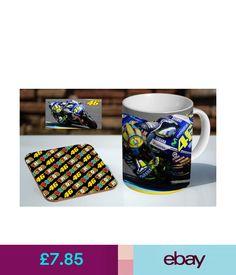 Mugs Valentino Rossi Moto Gp Tea / Coffee Mug Coaster Gift Set #ebay #Collectibles