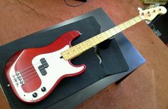 FENDER AMERICAN PRECISION BASS GUITAR WITH EMG PICKUPS