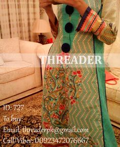Dress Code: 727 Price: PKR 4500 (35% off) Size: Medium Fabric: Original Gul Ahmed Lawn with Embroidery and Pure Chiffon Duppatta. Status: Available (Ready to ship) To buy: Email: threaderpk@gmail.com Phone/viber: 03472076667
