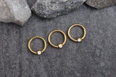 Jules Swarovski Crystal Captive Bead Ring in Gold