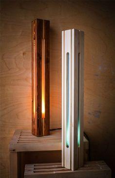 Main 8 Wood Floor Lamp, Wood Lamps, Wood Pendant Light, Pendant Light Fixtures, Creative Lamps, Led Diy, Wooden Projects, Lamp Design, Lamp Light