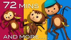 5 Little Monkeys Jumping On The Bed | Plus Lots More Rhymes | 72 Mins fr...