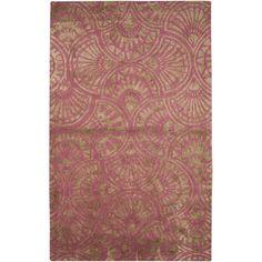 Hand Tufted Wool & Art Silk Rug (5' x 8')