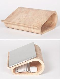 Vool Wooden Laptop Stand- MyWonderList.com