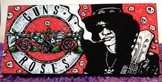 Slash Painting - Slash art – Guns N Roses – Velvet Revovler – Music Art – Music Décor – Painting – Acrylic – Original – 6x12 by TimothyDaviesArt on Etsy