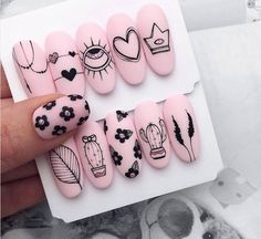 99 Beautiful Nail Art Design Ideas To Try In Summer Edgy Nails, Stylish Nails, Bling Nails, Minimalist Nails, Fabulous Nails, Perfect Nails, Nagel Bling, Romantic Nails, Nail Art Designs Videos