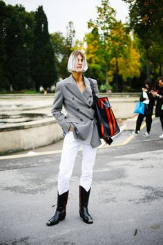 Leave it to the French to make cowboy boots look chic