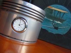 Authentic B-24, DC-3 WWII Pratt & Whitney r-1830 Twin Wasp Engine Piston Clock. $65.00, via Etsy.