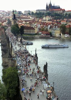 Charles Bridge in the city of Prague. Been there and would love love love to go back.