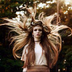 Amazing photo shoot, amazing hair