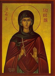 Icon of St. Glykeria - c. Religious Icons, Religious Art, Church Icon, St G, True Faith, Orthodox Christianity, Orthodox Icons, I Icon, First World