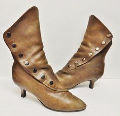 Vintage Zodiac USA Womens Ankle Boots Granny Steampunk Snap Up Leather Brown 9 M #ZodiacUSA #AnkleBoots #Alloccasion