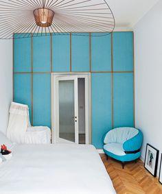 turquoise bedroom / Gio Ponti's Parco dei Principi Hotel via dwell