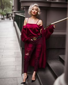 125 valentine's day outfit inspiration – page 2 Trend Fashion, Fashion Looks, Womens Fashion, Fashion Beauty, Shoulder Off, Chic Outfits, Fashion Outfits, Micah Gianneli, Dressed To Kill