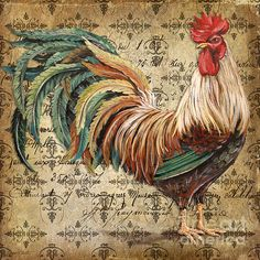 I uploaded new artwork to plout-gallery.artistwebsites.com! - 'Rustic Rooster-jp2120' - http://plout-gallery.artistwebsites.com/featured/rustic-rooster-jp2120-jean-plout.html via @fineartamerica