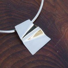 Origami Silver Pendant