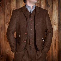 1923 Buccaneer Jacket herringbone brown