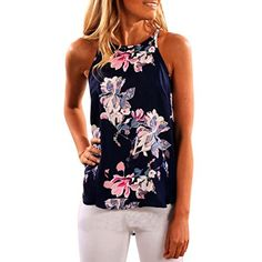 Women's Tops,Neartime Sleeveless Flower Printed Tank Vest T Shirt (XL, Dark Blue) ★Gender:Women,Young Girl ★Material:Polyester ★Collar:Round neck ★Season:Spring,Summer ★Sleeve Style:Sleeveless ★Pattern Type:Flower Printed ★Package: 1PC Tops ★Asian size,choose size up!! dressy blouses womens dressy tank tops dressy shirts for women black dressy tops women's dressy tops blouses and tops summer shirts womens summer shirts for women white summer shirt womens casual tops casual tops fo...