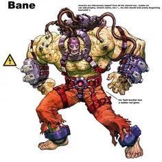 Bane Concept Art by Carlos D'Anda - Batman Arkham Asylum Batman Arkham Games, Bane Batman, Batman Armor, Batman Arkham Asylum, Gotham Villains, Comic Villains, Dc Comics, Batman Comics, Bane Cosplay