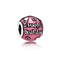 Special birthday coming up?  We have a new Pandora birthday charm! PANDORA | Birthday Celebration, Transparent Cerise Enamel