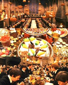 Harry Potter Halloween feast - there's carrot cake!!!