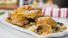Nancy Silverton's Oven-Roasted ChickenThighs and Balsamic-Glazed Mushrooms ~ Mario Batilis Partner ~ Restuarant Business Partner