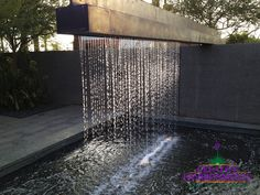 Metal is an ideal material to combat the harsh sun in Phoenix. Creative Environments can custom design a trellis shade sail planter boxes or arbor for your outdoor environment. With a full metal shop working aroundtheclock no job is too big or too small. Backyard Water Feature, Ponds Backyard, Backyard Landscaping, Indoor Water Features, Water Features In The Garden, Pond Design, Landscape Design, Indoor Zen Garden, Outdoor Clock