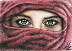 "Saatchi Online Artist: Nicole Zeug; Colored Pencils, Drawing ""Magic Eyes"""