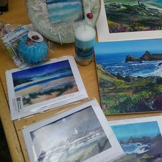 #New #product #range 10%going to nature at #CornwallWildlifetrust. I have :) #prints from my #original #fineart #paintings. #Framed #prints #cards #prints on veneered wood, with nature motifs on reverse, hand painted candles with local coastal scenes of #CornwallUK.  Available to purchase from me at the garden studio #Barncoose #Redruth or at events I attend.  The new range along with my originals, are raising awareness of #naturalbeauty versus #manmade #pollution.  I am currently growing my…