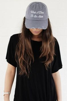 What A Time To Be Alive Distressed Hat - Blue from Jawbreaking c22a0a9354f5