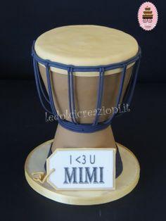 Djembe drum cake - www.ledolcicreazoni.it