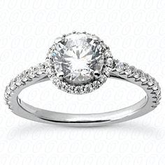 Diamond engagement ring from Unique Settings New York available at Reuben Landsberg & Sons