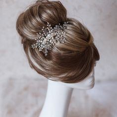Bridal hair comb. Crystals bridal hair comb. от Aksessories