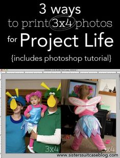 Saturday Share : How to Print 3x4 Photos for Project Life | My Sister's Suitcase | Bloglovin'