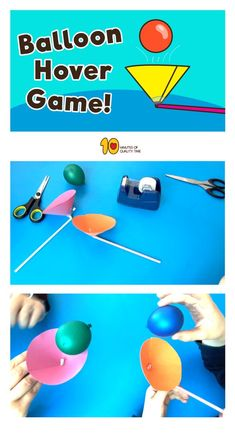 Ballon-Schwebespiel – 10 Minuten Qualitätszeit Balloon Hover Game – 10 minutes of quality time, Hovering Game # Quality time Kid Science, Science Activities For Kids, Steam Activities, Games For Kids, Diy For Kids, Crafts For Kids, Science Centers, Preschool Science, Science Classroom