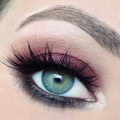 "@iheartmakeupart Red Wine-Inspired Evening Look with ""Bordeaux"" from Motive Cosmetic's Element Palette"