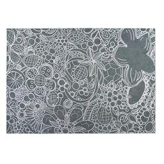 Kavka Designs / Grey Expressions 2' x 3' Indoor/ Outdoor Floor Mat
