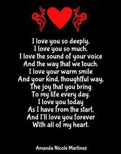 Love my girlfriend poem i why 35 Love