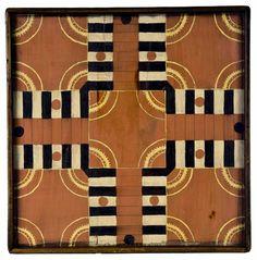 Horse Weathervane - Halsey Munson Americana; parcheesi game board, gameboard