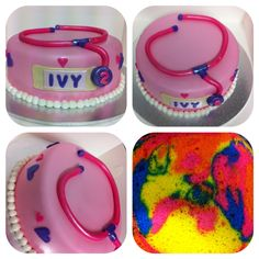 Doc mcstuffins vanilla rainbow cake