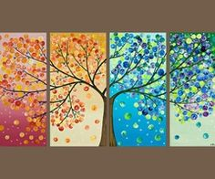 """Only use real picture of tree in fall, winter, spring, and maybe summer w/ the poem """"Trees"""""""