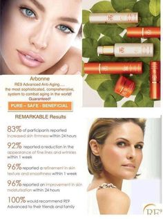Find out the difference today! Try Re9 Advanced by Arbonne - http://www.valeriecasperson.arbonne.com
