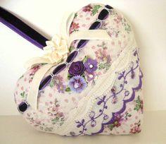 HEART SACHET purple embroidery, <3 Ene 15 16 <3