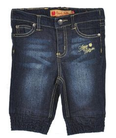 "Apple Bottoms ""Floral Scroll"" Jeans (Sizes 12M - 24M)"
