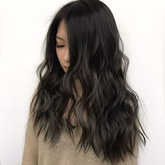 Long Shaggy Bob - Brown Ombre Hair Solutions for Any Taste - The Trending Hairstyle Dark Brown Hair With Low Lights, Cool Tone Brown Hair, Honey Brown Hair, Brown Ombre Hair, Black Brown Hair, Hair Color Dark, Brown Hair Colors, Dark Hair, Black Hair Aesthetic