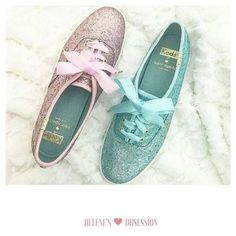 Which color would you choose?   #sneakers #kedsstyle #pink #mint #HelenesGirlyObsession #girls #women #stylish #shoes #sparkle