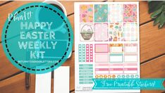 PlanIt! Happy Easter Kit – FREE printable planner stickers!