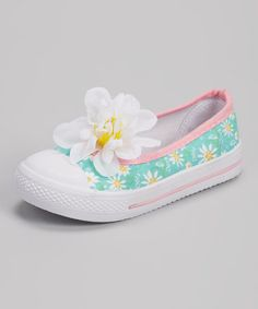 Another great find on #zulily! Turquoise Floral Dora Slip-On Sneaker by K.I.C.S. #zulilyfinds