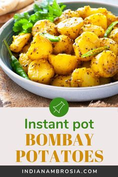 Indian Bombay potatoes made in the instant pot or stovetop are a delight to eat with naan bread. Baby potaotes are steamed, then tossed in just three spices for an authentic recipe that's also quick and easy! Vegan and gluten-free. Side Dish Recipes, Veggie Recipes, Easy Dinner Recipes, Vegetarian Recipes, Side Dishes, Savoury Recipes, Veggie Food, Brunch Recipes, Indian Potato Recipes