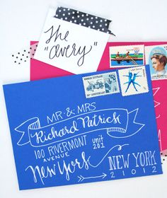 Hand Addressed Envelopes - The Avery via Etsy